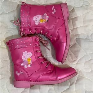 PEPPA PIG. BOOTS. Pink. Girls Size 13.